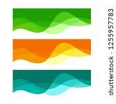 wavy design element. decor for... | Shutterstock .eps vector #1255957783
