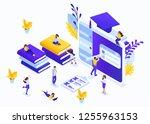 isometric business concept e... | Shutterstock .eps vector #1255963153