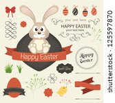 Vector Set Of Easter Ornaments...