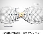 deep learning background.... | Shutterstock .eps vector #1255979719