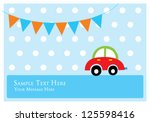 cute car tag | Shutterstock .eps vector #125598416