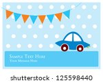 cute car tag | Shutterstock .eps vector #125598440