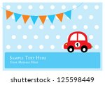 cute car tag | Shutterstock .eps vector #125598449