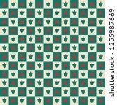 seamless christmas pattern in...   Shutterstock .eps vector #1255987669