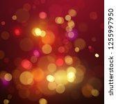 bokeh light. shimmering... | Shutterstock .eps vector #1255997950