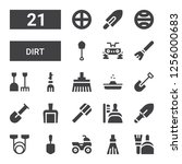 dirt icon set. collection of 21 ... | Shutterstock .eps vector #1256000683