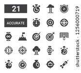 accurate icon set. collection...   Shutterstock .eps vector #1256000719