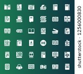 reader icon set. collection of... | Shutterstock .eps vector #1256000830