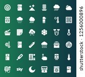 temperature icon set.... | Shutterstock .eps vector #1256000896