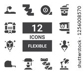 flexible icon set. collection... | Shutterstock .eps vector #1256008570