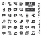 chatting icon set. collection... | Shutterstock .eps vector #1256008639