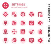 settings icon set. collection... | Shutterstock .eps vector #1256008693