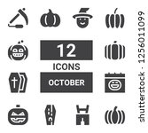 october icon set. collection of ... | Shutterstock .eps vector #1256011099