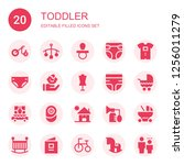 toddler icon set. collection of ...   Shutterstock .eps vector #1256011279