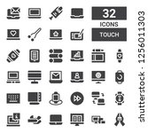 touch icon set. collection of... | Shutterstock .eps vector #1256011303