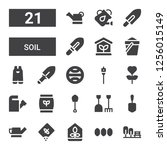 soil icon set. collection of 21 ...   Shutterstock .eps vector #1256015149