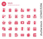 mug icon set. collection of 30... | Shutterstock .eps vector #1256015206