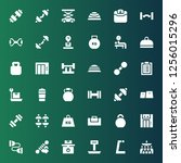 dumbbell icon set. collection... | Shutterstock .eps vector #1256015296