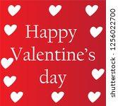 valentine's day on red... | Shutterstock . vector #1256022700