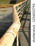 rust of metals. corrosion of... | Shutterstock . vector #1256022793