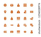 earning icon set. collection of ... | Shutterstock .eps vector #1256028976