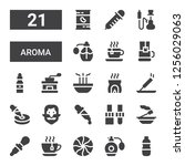 aroma icon set. collection of... | Shutterstock .eps vector #1256029063