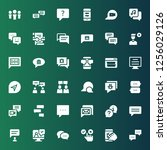 forum icon set. collection of... | Shutterstock .eps vector #1256029126