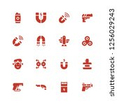 force icon set. collection of... | Shutterstock .eps vector #1256029243