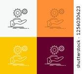 solution  hand  idea  gear ...   Shutterstock .eps vector #1256030623