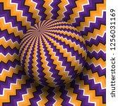 optical illusion vector... | Shutterstock .eps vector #1256031169