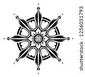 dharma wheel of fortune tattoo... | Shutterstock .eps vector #1256031793