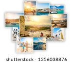 collage of sights and scenes of ... | Shutterstock . vector #1256038876