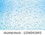 water drops on glass or rain... | Shutterstock . vector #1256041843