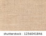 burlap background and texture | Shutterstock . vector #1256041846