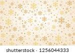 snowflake winter banner... | Shutterstock .eps vector #1256044333