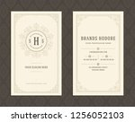 luxury business card and... | Shutterstock .eps vector #1256052103