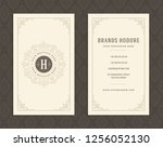 luxury business card and... | Shutterstock .eps vector #1256052130