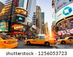 usa  new york city  june  12... | Shutterstock . vector #1256053723