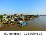 boat to dock passenger service | Shutterstock . vector #1256054623