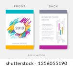 vector abstract annual report... | Shutterstock .eps vector #1256055190