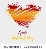 spain national day background.... | Shutterstock .eps vector #1256060596