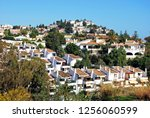 traditional spanish villas and... | Shutterstock . vector #1256060599