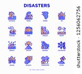 disasters thin line icons set ... | Shutterstock .eps vector #1256062756