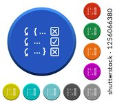 debugging program round color... | Shutterstock .eps vector #1256066380