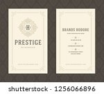 luxury business card and... | Shutterstock .eps vector #1256066896