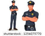 Police Officer In Standing Pose ...