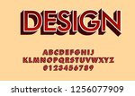 vector of bold modern font and... | Shutterstock .eps vector #1256077909