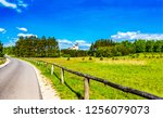 rural country road fence...   Shutterstock . vector #1256079073