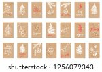 hand drawn chalk christmas and...   Shutterstock .eps vector #1256079343