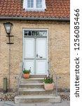 old town of christiansfeld  ...   Shutterstock . vector #1256085466